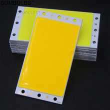 Sumbulbs DIY LED Panel Light 94x50MM 1500LM Ultra Bright Warm Natural Cold White Blue DC 12V 15W COB Board LED Lamp