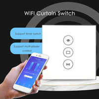 Timethinker EU UK Smart WiFi Curtain Switch Touch for Electric Curtain Motor for Alexa Google Home IFTTT Smart Life App Support