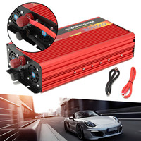 Portable Car Modified Sine Wave Power Inverters 3000W DC 12V To AC 220V Converter 80% Inverter Efficiency Built in Cooling Fan