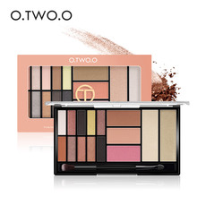 O.TWO.O 15 Full Colors Eyeshadow Palette Matte Eye Shadow Palette Pigment Glitter Makeup Eyeshadow Palettes Nude Shadows 6052 9 full colors shimmer matte eye shadow palette pigment glitter eyeshadow palettes nude shadows cosmetics korean makeup eyes