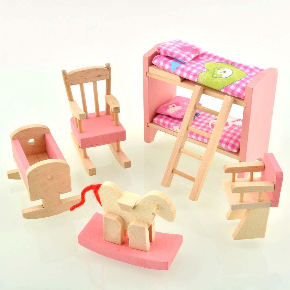 cheap wooden dollhouse furniture. Wooden Nursery Room Doll House Furniture Miniature For Kids Play Toy Gift Hot-in Toys From \u0026 Hobbies On Aliexpress.com | Alibaba Group Cheap Dollhouse E