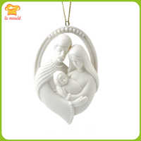 New LXYY mold Christ the Virgin embossed silicone mould resin plaster soft clay mold