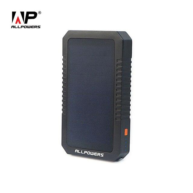 ALLPOWERS Портативный Солнечное Зарядное Устройство Power Bank Солнечная Внешнее Зарядное Устройство для iPhone iPad Samsung HTC Sony Huawei Xiaomi и т. д.