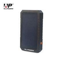 Allpowers Портативный Солнечный Зарядное устройство 12000 мАч Солнечный Запасные Аккумуляторы для телефонов солнечная внешний Батарея Зарядное устройство для iPhone iPad Samsung HTC Huawei.