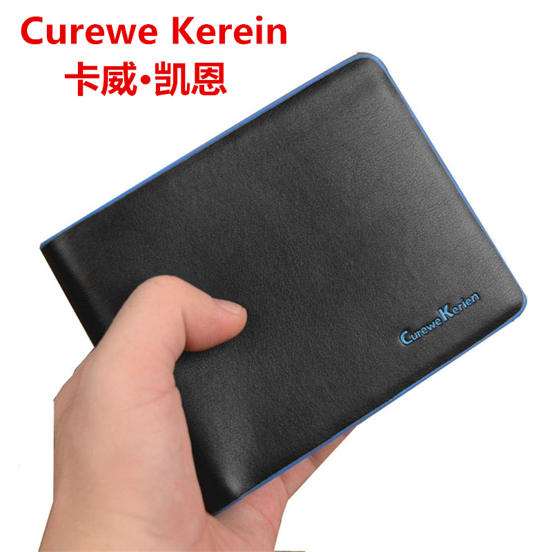 Curewe Kerien Pu Leather Wallets Short Wallets For Men Card Holders Coin Purse Money Bag Clutch Brand Men Leather Wallets curewe kerien brand men s genuine leather long zipper purse business wallet handbag