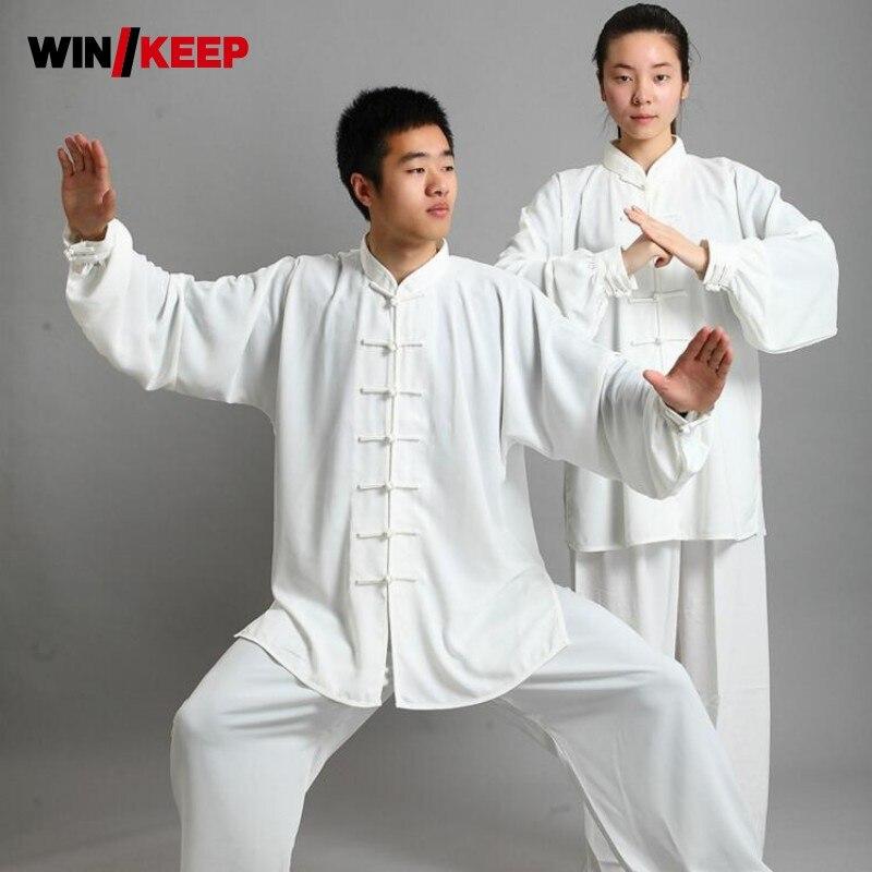 Tradizionale Cinese di Seta Del Faux 16 di Colore A Maniche Lunghe Wushu Tai Chi Uniforme Vestito di Meditazione Uniformi Tai Chi Esercizio di Tuta