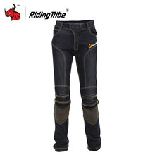 Riding Tribe Motorcycle Jeans Racing Motorcycle Pants Moto Jeans Trousers Blue And Black With CE Knee