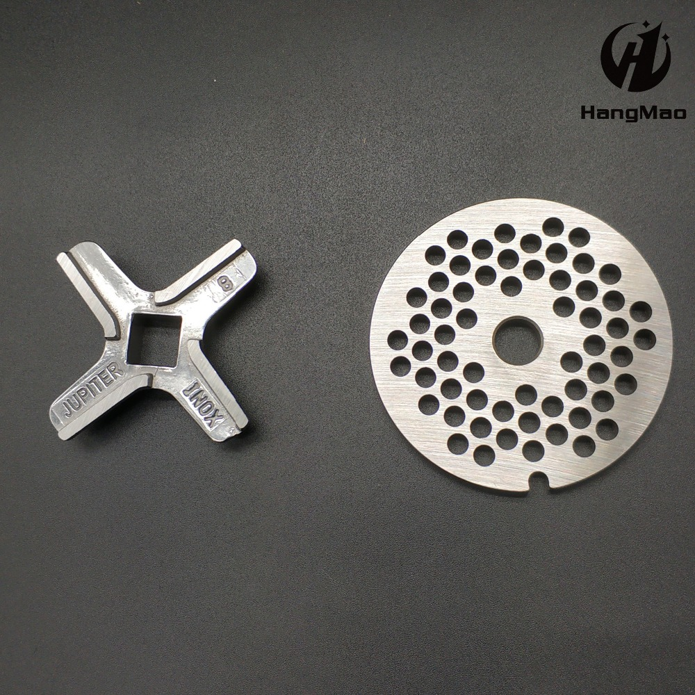 ss304  2 Pieces Meat Grinder Parts #8 Blade Mincer Knife food processor combine blade KW658522 Fit Kenwood  bosch MFW67440ss304  2 Pieces Meat Grinder Parts #8 Blade Mincer Knife food processor combine blade KW658522 Fit Kenwood  bosch MFW67440
