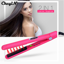 Cheap price CkeyiN Professional Ceramic Infrared Heating Plate Hair Straightener Straightening Iron Styling Tools Negative Ions Hair Care