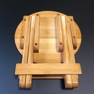 Image 5 - Wysokiej jakości bambusowa mała ławka przenośna taboret do wędkowania składany stołek drewniany tani i dobry dom umeblowanie