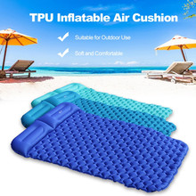2 Person Outdoor Camping Tent Air Mats Outdoor Inflatable Sleeping Cushion Picnic Beach Rest Soft Mattress Beach mat Air bed(China)