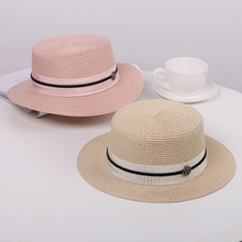 Summer Straw Hats Womens Short Brim Flat Caps Top Cloche Beach Bowler Jazz Sun Visor For Women Chapeau Feminino