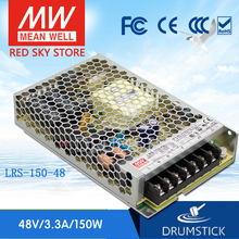 цена на Redsky [freeshipping12] MEAN WELL original LRS-150-48 48V 3.3A meanwell LRS-150 158.4W Single Output Switching Power Supply