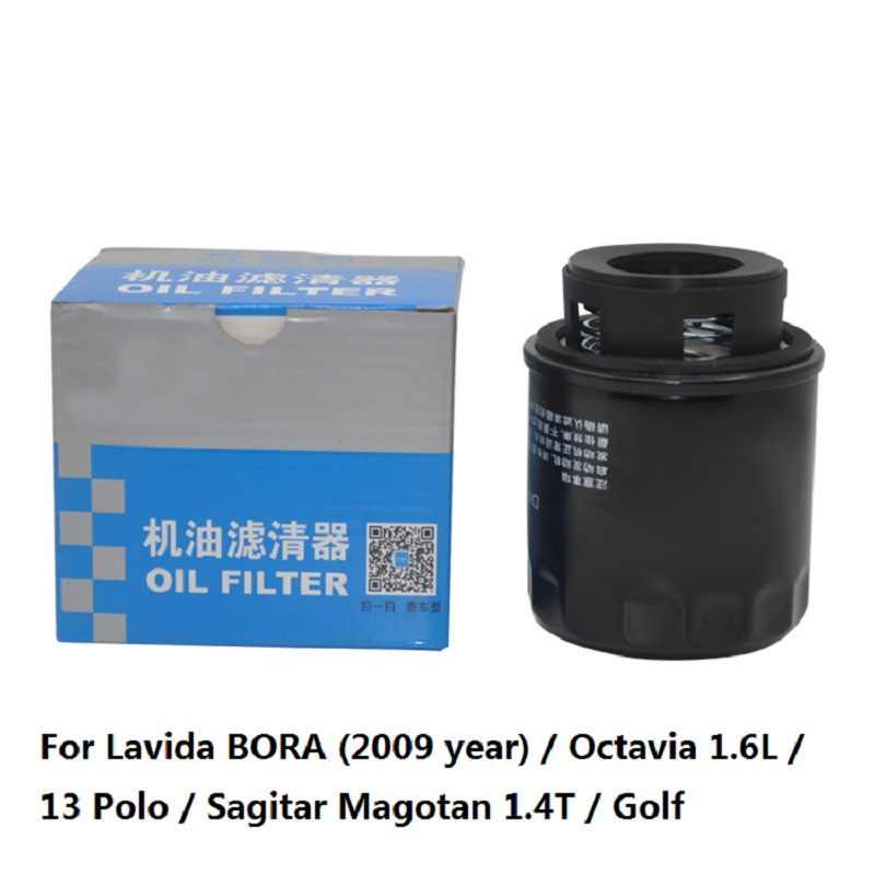 1 PC Mobil Oil Filter untuk Lavida Bora (Tahun 2009) /Octavia 1.6L/13 POLO/Sagitar Magotan 1.4 T/Golf Auto Parts