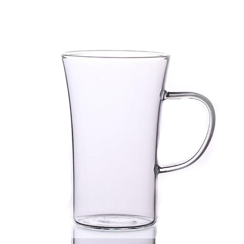 Tasse en verre résistant à la chaleur de 350 ml, eau, café, vaisselle de bureau à la maison, pu'er/Dahongpao/oolong de lait/thé blanc - 4