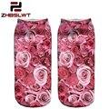 ZHBSLWT New Lovely pattern 3D Print Animal Women Socks Casual cartoon Socks Unisex Low Cut Ankle Socks 001A