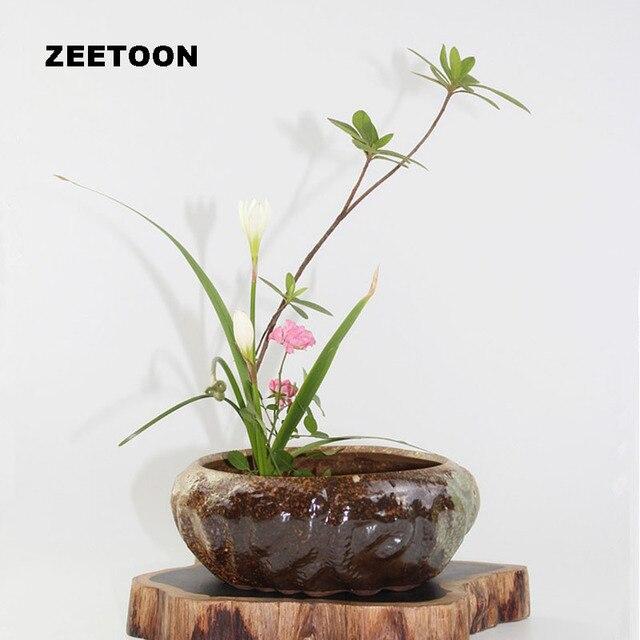 Zen Flower Pot Japanese Ikebana Floral Tabletop Vase Flower