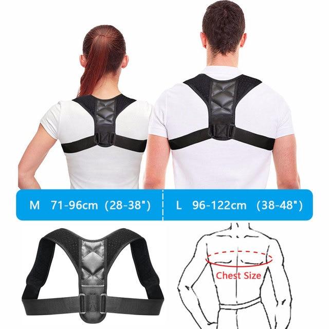 Adjustable Back Posture Corrector Clavicle Spine Back Shoulder Lumbar Brace Support Belt Posture Correction Prevents Slouching 5