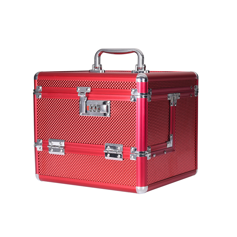 New Professional Aluminium Alloy Cosmetic Case Make Up Box Makeup Case Multi Tiers Lockable Jewelry Box Makeup Storage Box