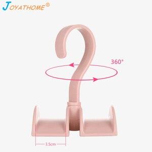 Image 5 - Joyathome استدارة التخزين رف حقيبة شماعات لا لكمة الملابس البلاستيك الرف الإبداعية التعادل معطف خزانة شماعات خزانة المنظم