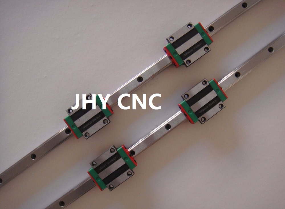 PATTINO PER GUIDE LINEARI, JHY MOD. HGW15-400mm (HGW15CA) LINEAR GUIDEWAY BLOCK toothed belt drive motorized stepper motor precision guide rail manufacturer guideway