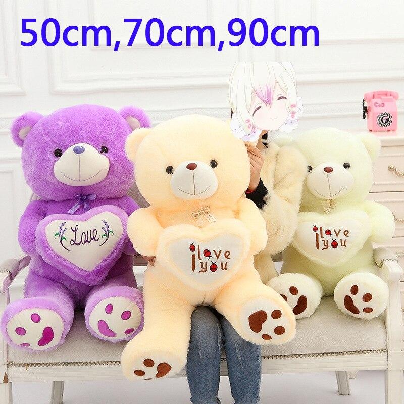 50cm,70cm big size teddy bear plush animal doll fabric peek a boo romantic bear we bear bears Toys stuffed girl Valentine Day