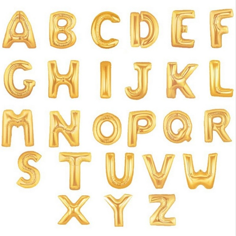 gold alphabet letters balloons foil balloon birthday new year party wedding decoration balloon 16 inch in balloons from toys hobbies on aliexpresscom