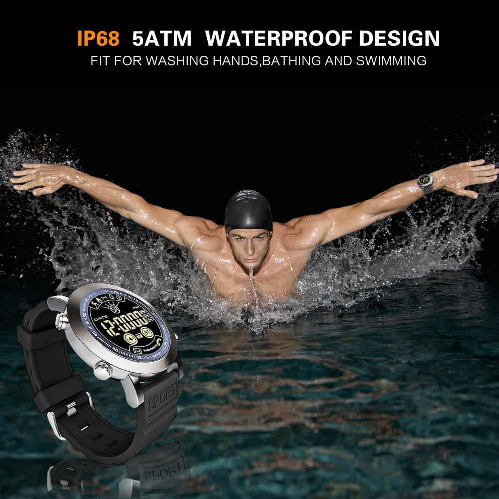 LEMFO LF23 ساعة ذكية 5ATM للماء عداد الخطى 610MAh بطارية 33 أشهر طويلة الاستعداد الوقت Smartwatch الرجال reloj inteligente