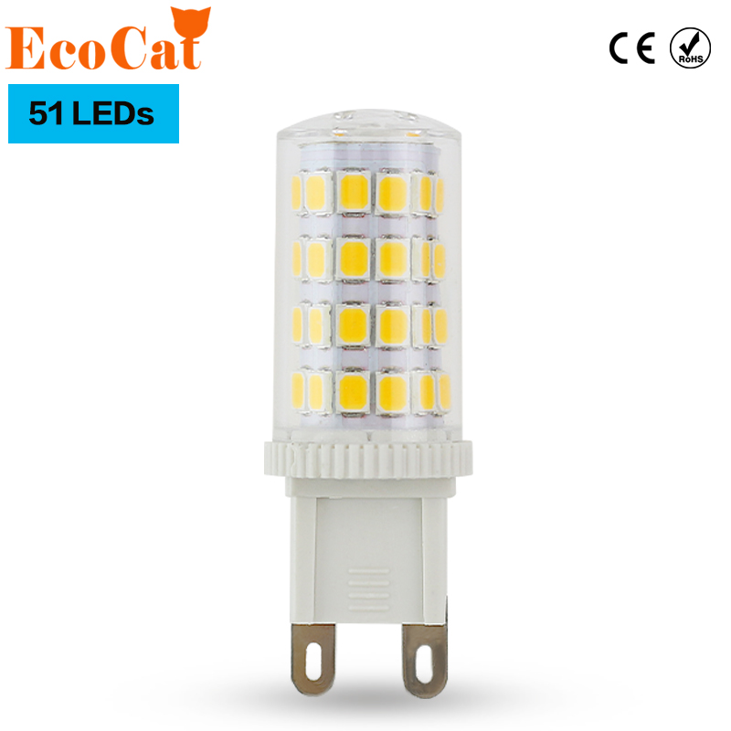 ECO Cat Low price G9 LED 7W G9 LED Corn Light 2835 Replace 50W Halogen Lamp Led bulb spotlight Crystal lamp for Chandelier