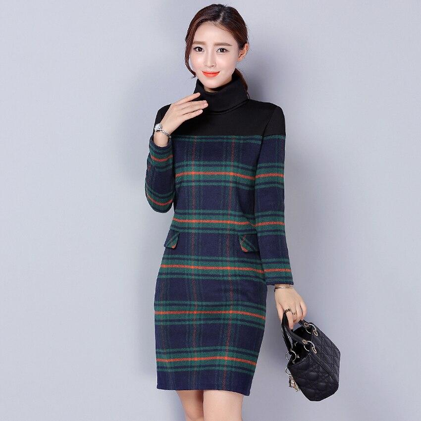 Online Get Cheap Plus Size Turtleneck Dress -Aliexpress.com ...