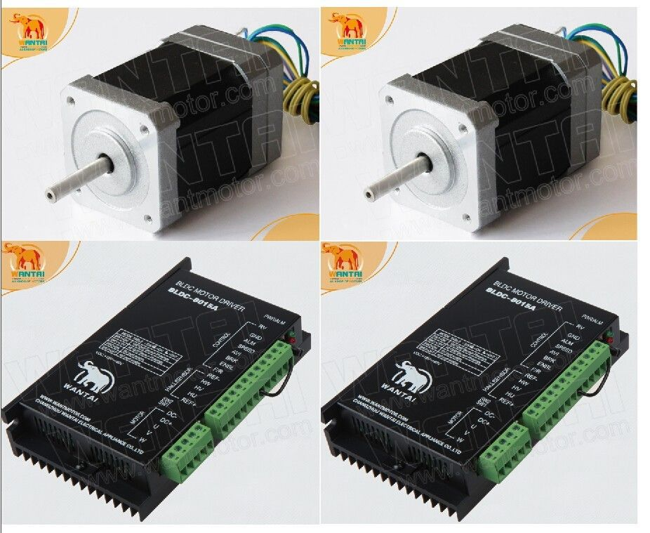 цена на Factory Direct! 2Axis 3D CNC Wantai Nema 17 Brushless DC Motor 4000RPM, 52VDC,26W,3phs 42BLF02& Driver BLDC-8015A, 80VDC,5000RPM
