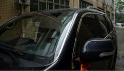 Ze stali nierdzewnej stalowe chromowane przednia szyba listwa wykończeniowa pokrywa zewnętrzna dekoracja ciała dla TOYOTA Prado 2010 2017 samochodów stylizacji w Chromowane wykończenia od Samochody i motocykle na