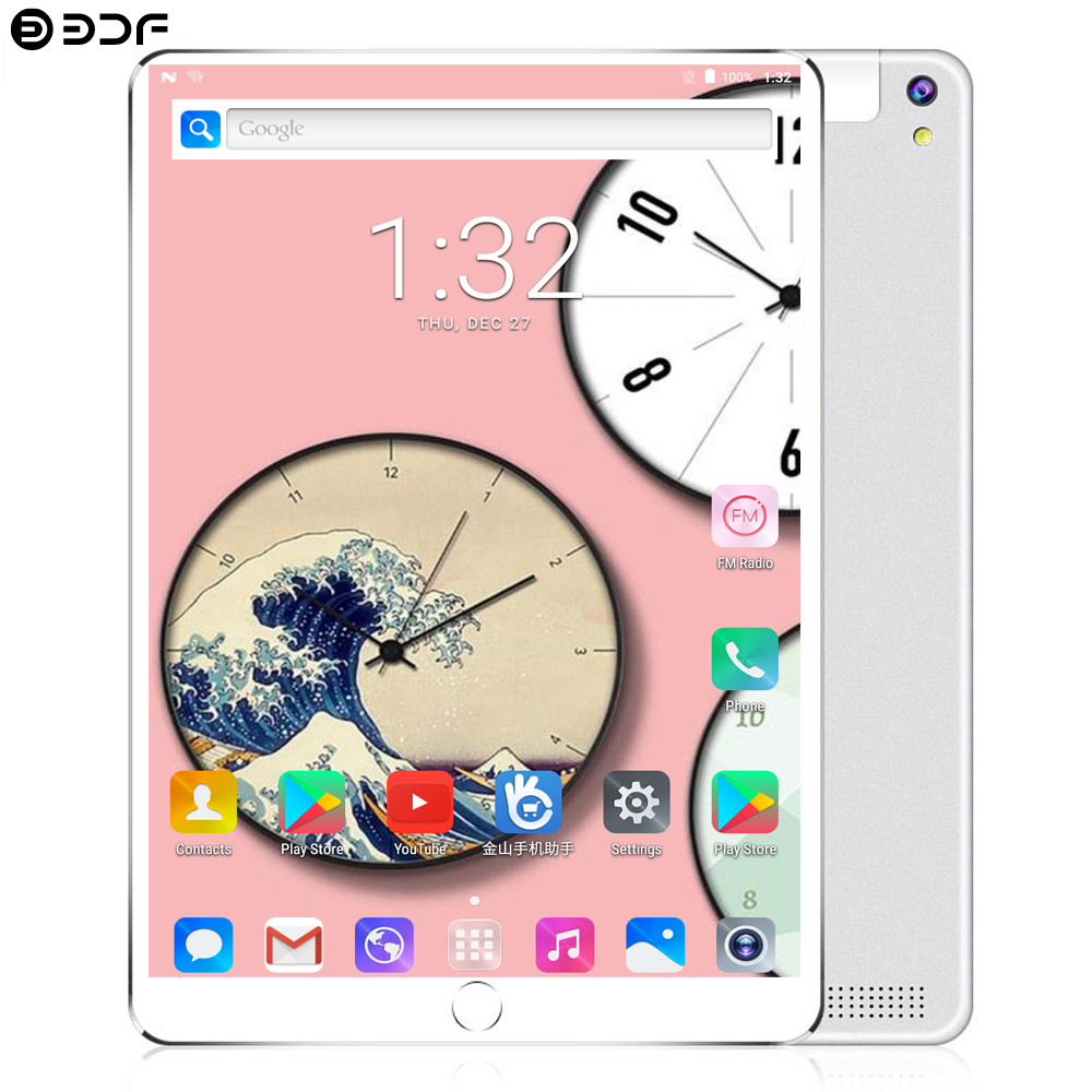2019 Google 10.1 Inch Tablet Pc Android 7.0 Tablet 4G LTE Octa Core 4GB RAM 64GB ROM WiFi 1920*1200 IPS Kids Gift Tablet 10 10.1