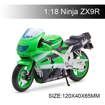 Maisto 1:18 Motorcycle Models ZX 9R  Kawasaki Ninja ZX9R Diecast Plastic Moto Miniature Race Toy For Gift Collection
