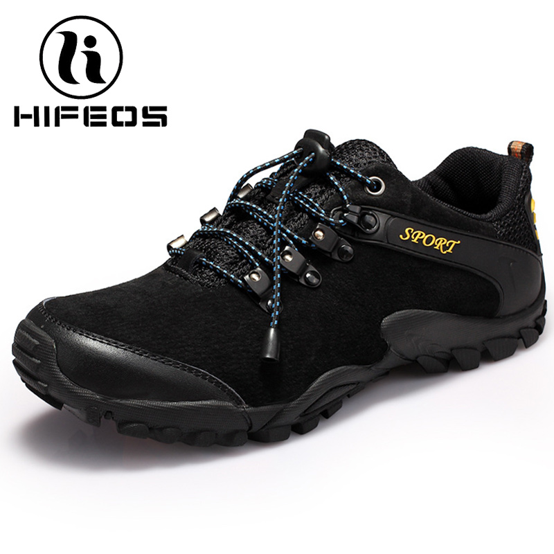 HIFEOS outdoor cross-country hiking shoes men winter sneakers anti-slip cow suede leather boots anti-crash toe breathable M070 hifeos outdoor hiking shoes anti slip boots lace invisible increased men s shoes comfortable breathable sneakers climing m065