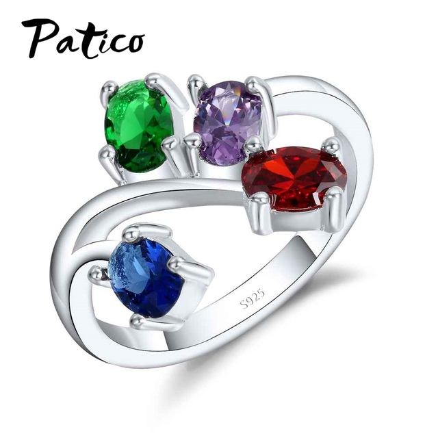 PATICO Hot Selling Muticolors Blue Red Purple Round CZ Zirconia Rhinestone Weddi