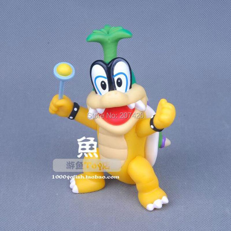12cm Rare Collection Game Super Mario Koopalings Bowser Iggy Hop Action Figure Toys,1pcs/pack