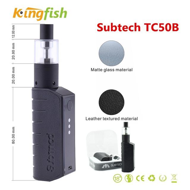 100% original H9 Subtech TC50B 50 W con 2 ML Cigarrillo Electrónico Atomizador 0.5 ohm 2800 mAh Batería Cigarrillo electrónico Sub mod Vaporizador