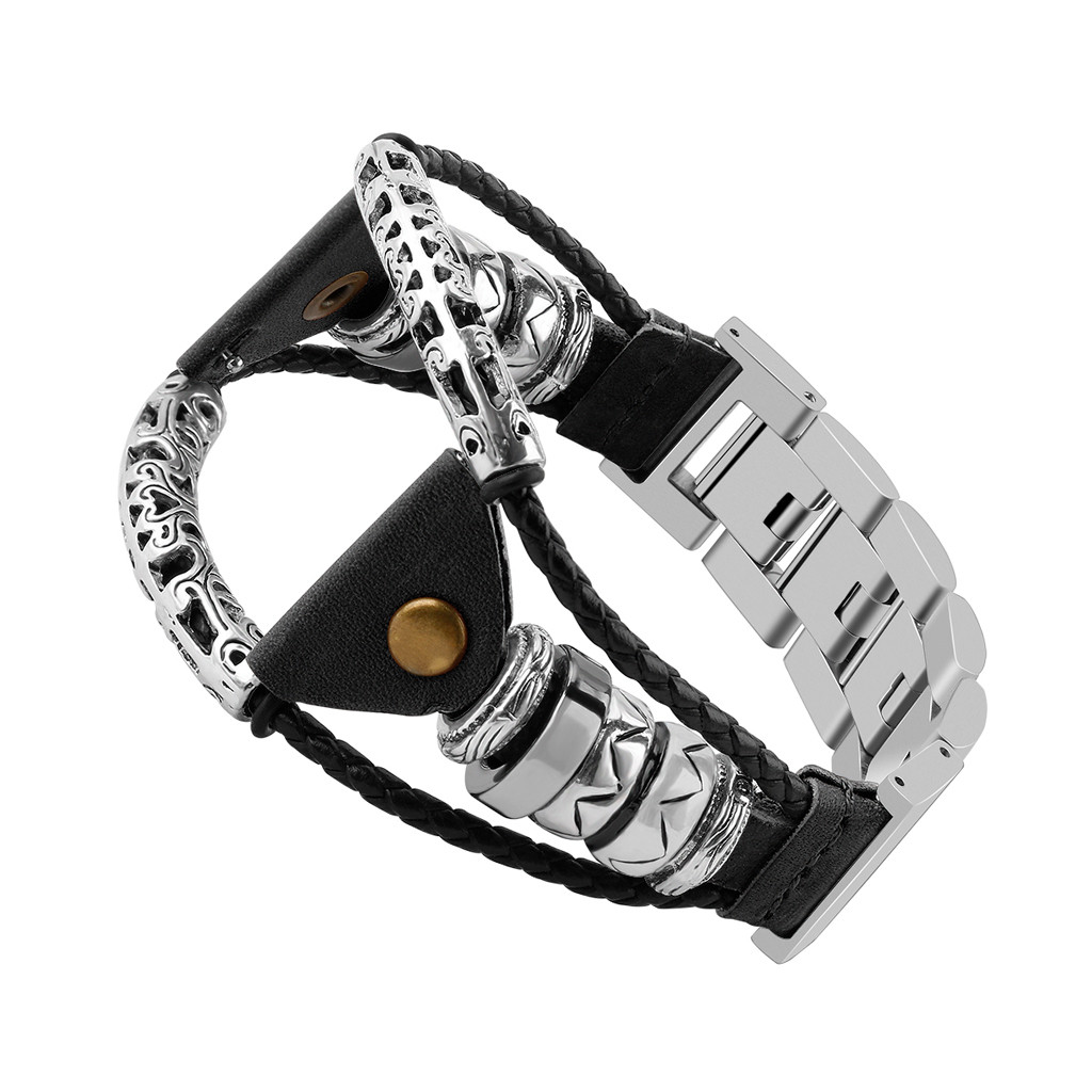 Fashion Casual Men Watchbands Cool Stainless Steel Bands Gift Handmade Wristband Bracelet Straps For Samsung Galaxy Watch (46mm)Fashion Casual Men Watchbands Cool Stainless Steel Bands Gift Handmade Wristband Bracelet Straps For Samsung Galaxy Watch (46mm)