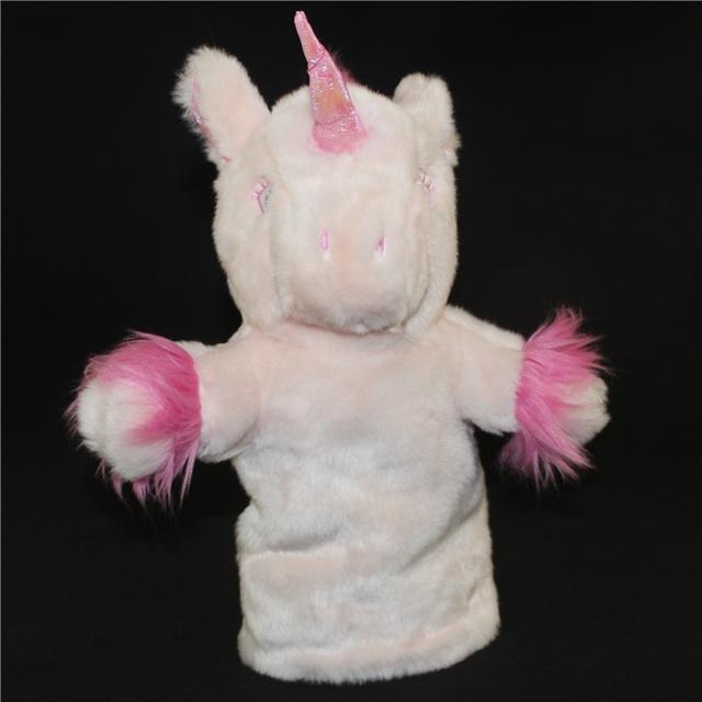 Grande Marioneta de Mano de Los Niños Juguetes Educativos Juguetes de Peluche Unicornio Muñeca de Juguete Marionetas de Mano Interacción Entre Padres E Hijos