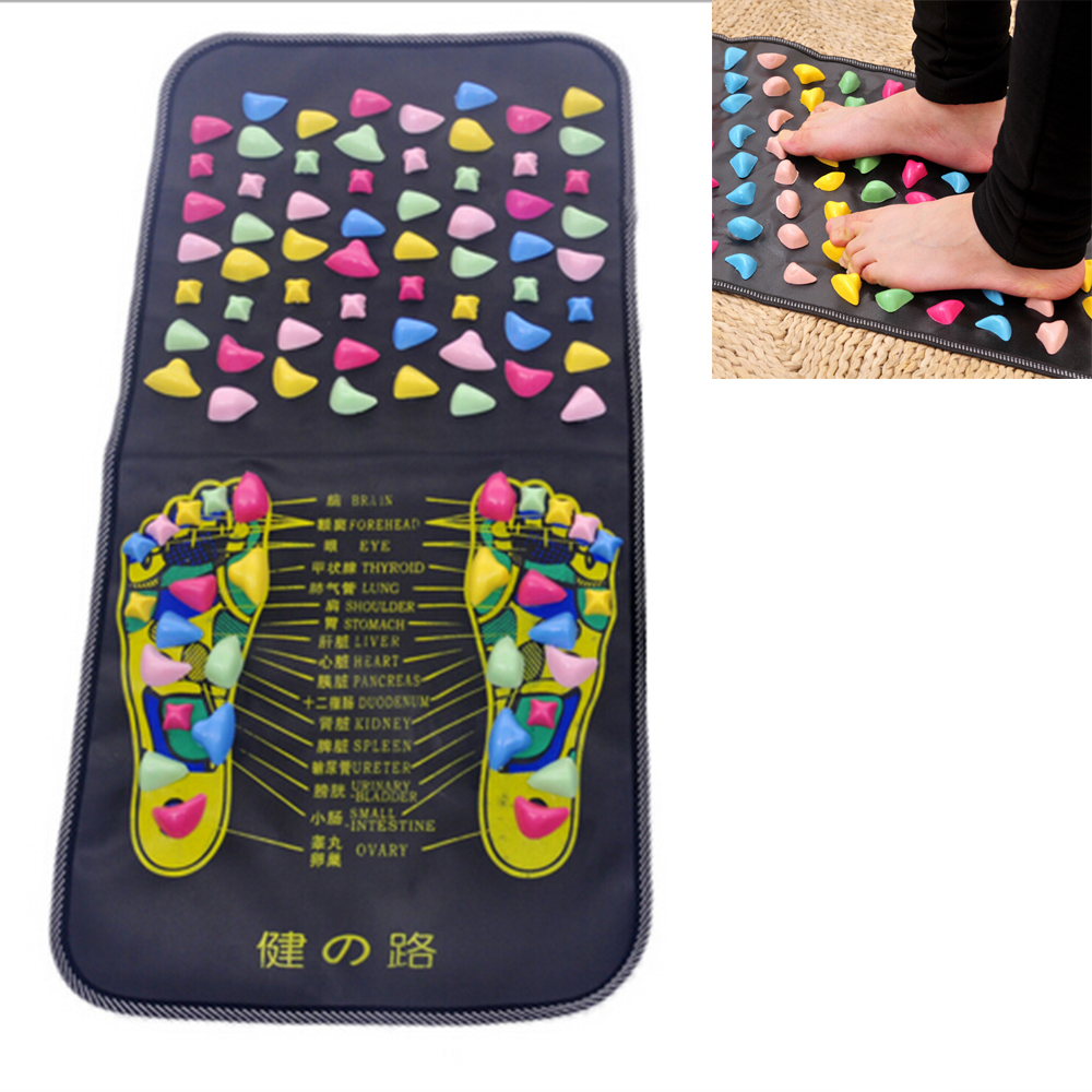 Foot Massage Pad Health Care 70*35 cm Cobblestone Pain Relief Stone Massager Mat Walk Muscle Stimulator Acupressure Therapy electric antistress therapy rollers shiatsu kneading foot legs arms massager vibrator foot massage machine foot care device hot