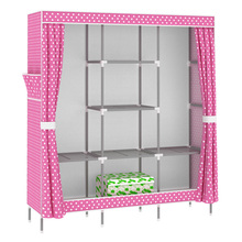 Large Double cloth wardrobe simple steel reinforcement bold all-steel metal mesh compartments Clothes Storage cabinets