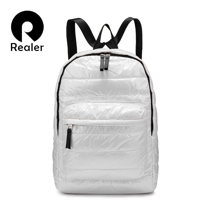 Backpack women space down cotton travel backpack school bags for girls teenagers Shoulder bag fashion Female