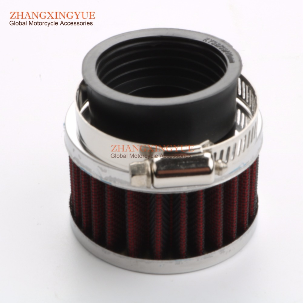 28mm 32mm 35mm 38mm 42mm diameter high performance retrofit Air Filter Scooter Motorcycle ATV Kart 50cc 70cc 100cc 125cc