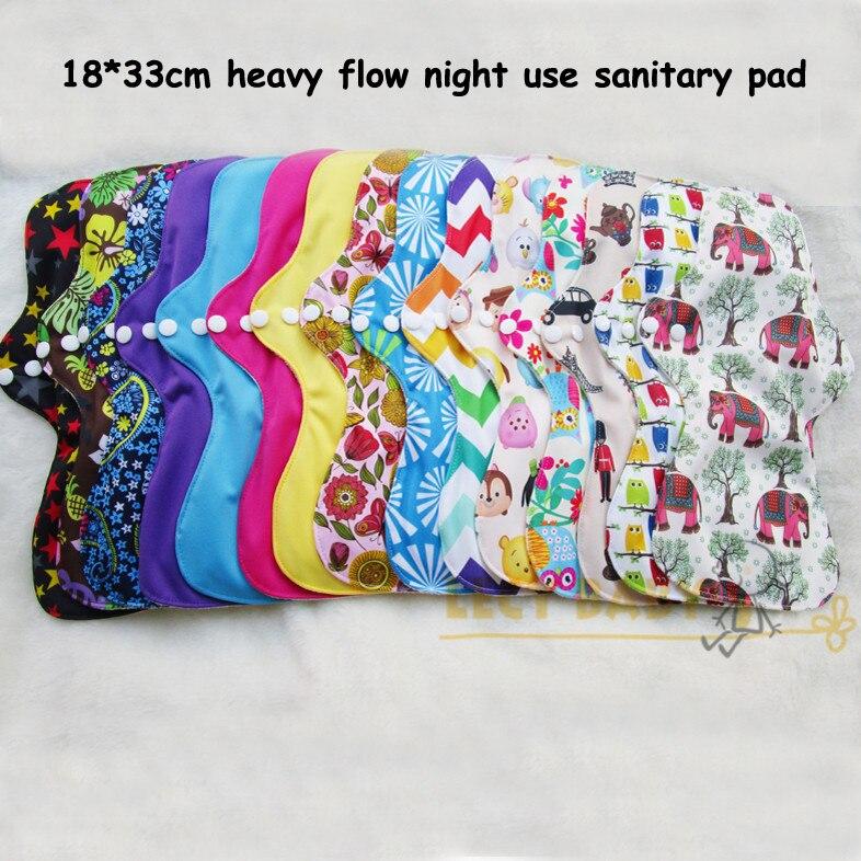 free shipping 1pc washable heavy flow night use feminine