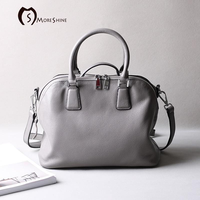MORESHINE Brand Genuine cow Leather font b women b font Handbag High grade Shell Crossbody font