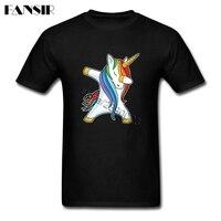 Unicorn Men T Shirt Cool Tee Shirt Male Short Sleeve Crewneck Cotton Big Size Clothing For