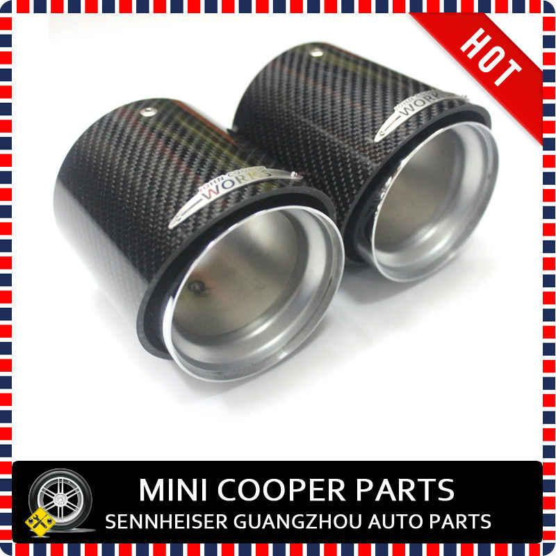 brand new jcw mini cooper s exhaust tailpipe finisher mini cooper s carbon fiber tuning kit exhaust for mini cooper s f55 f56