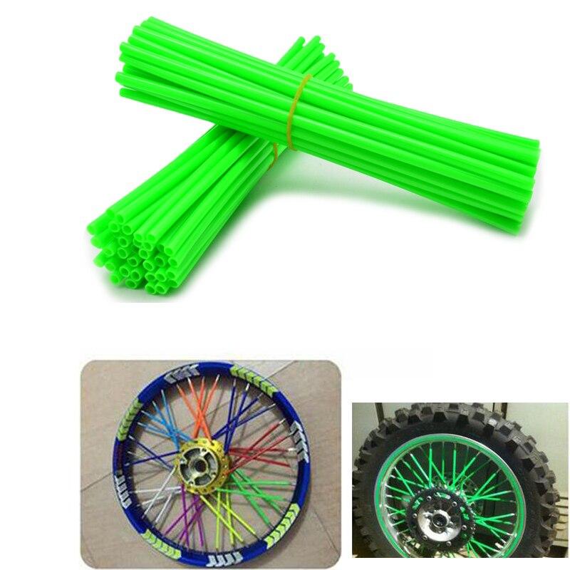 ONE Set of  Wheel RIM SPOKE SKINS COVERS For Dirt Biker For CR YZ RM KX 80 125 250 450 500 CRF YZF RMZ KXF KTM