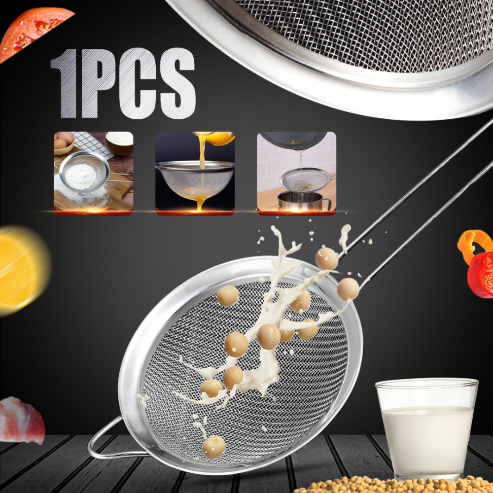 Other Kitchen Tools & Gadgets Stainless Steel Wire Fine Mesh Oil Strainer High Quality Flour Sifter Sieve Colanders Diy Kitchen Tools Colanders & Strainers